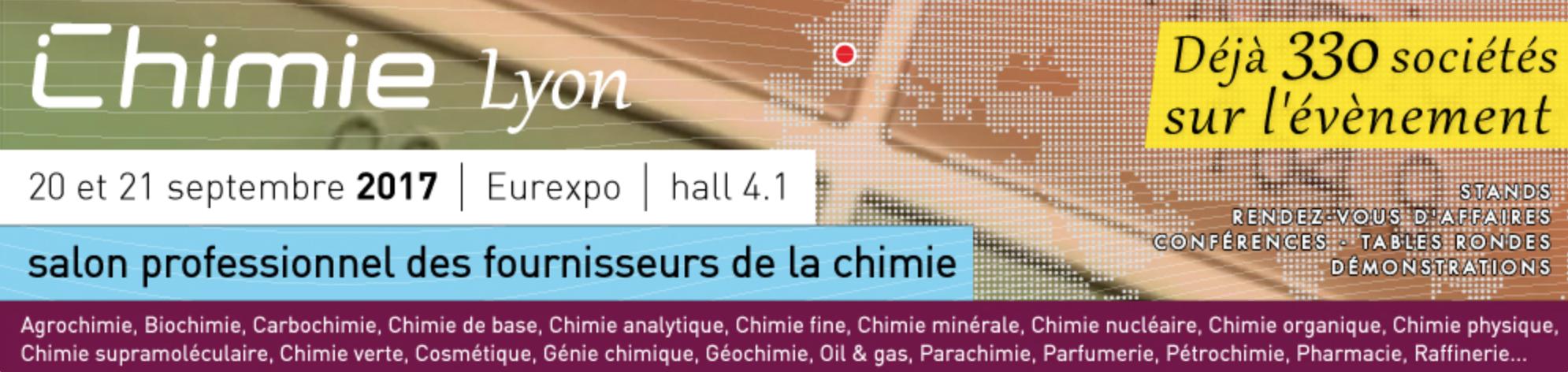 INTERSAFE au Salon Chimie Lyon les 20 & 21 septembre 2017