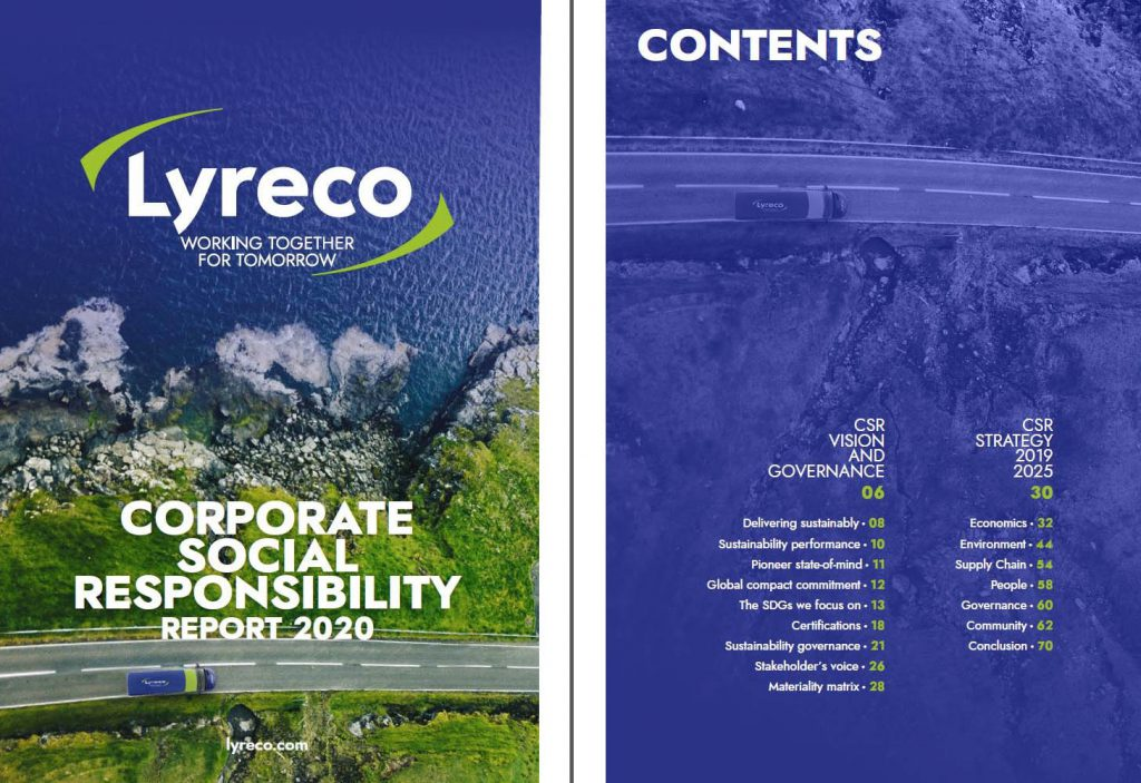 Corporate Social Responsibility report Lyreco 2020