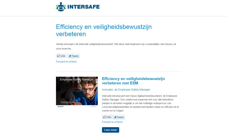 NIEUWSBRIEF: Efficiency en veiligheidsbewustzijn verbeteren