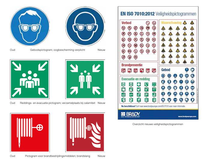 Nieuwe veiligheidspictogrammen Brady