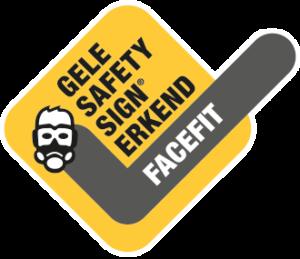 Gele safety sign erkend facefit - Compliance en kwaliteit