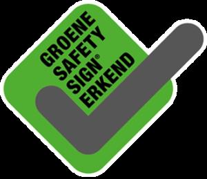 Groene safety sign erkend - Compliance en kwaliteit