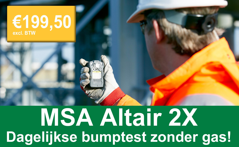 MSA Altair 2X: dagelijkse bumptest zonder gas!