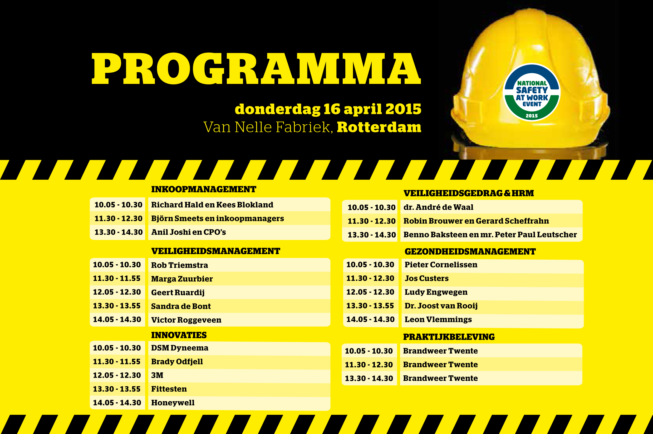 National Safety at Work Event, tot morgen!