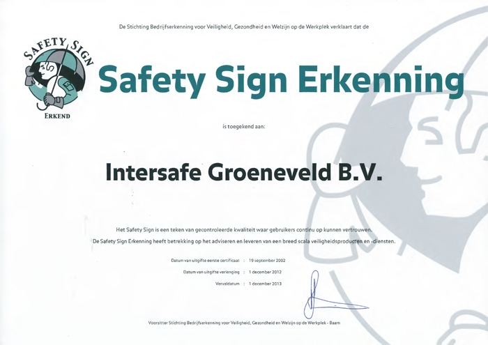 Intersafe again recognized PPE advisor