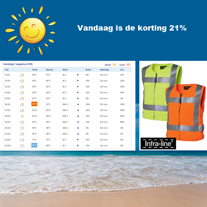 Zomeractie Coolvest hydrogel Infra-line