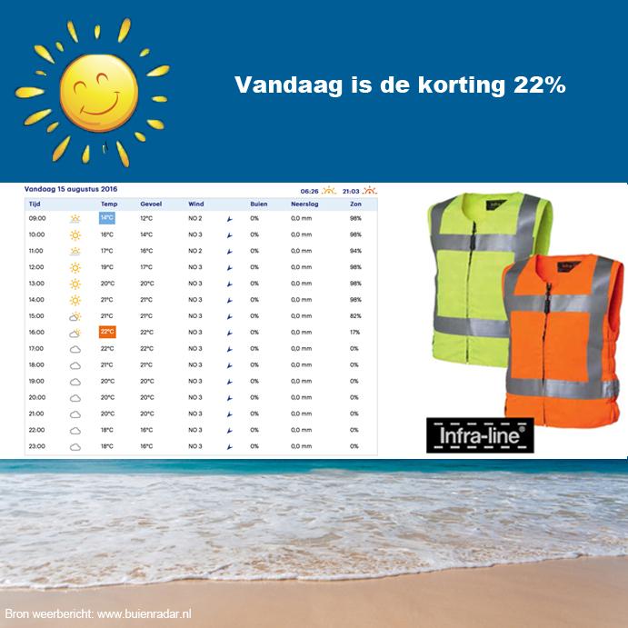 Zomeractie Coolvest hydrogel Infra-line® 15 augustus 2016