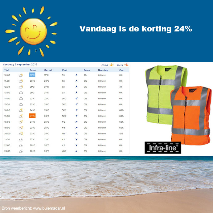 Verlenging zomeractie Coolvest hydrogel Infra-line® 6 september 2016