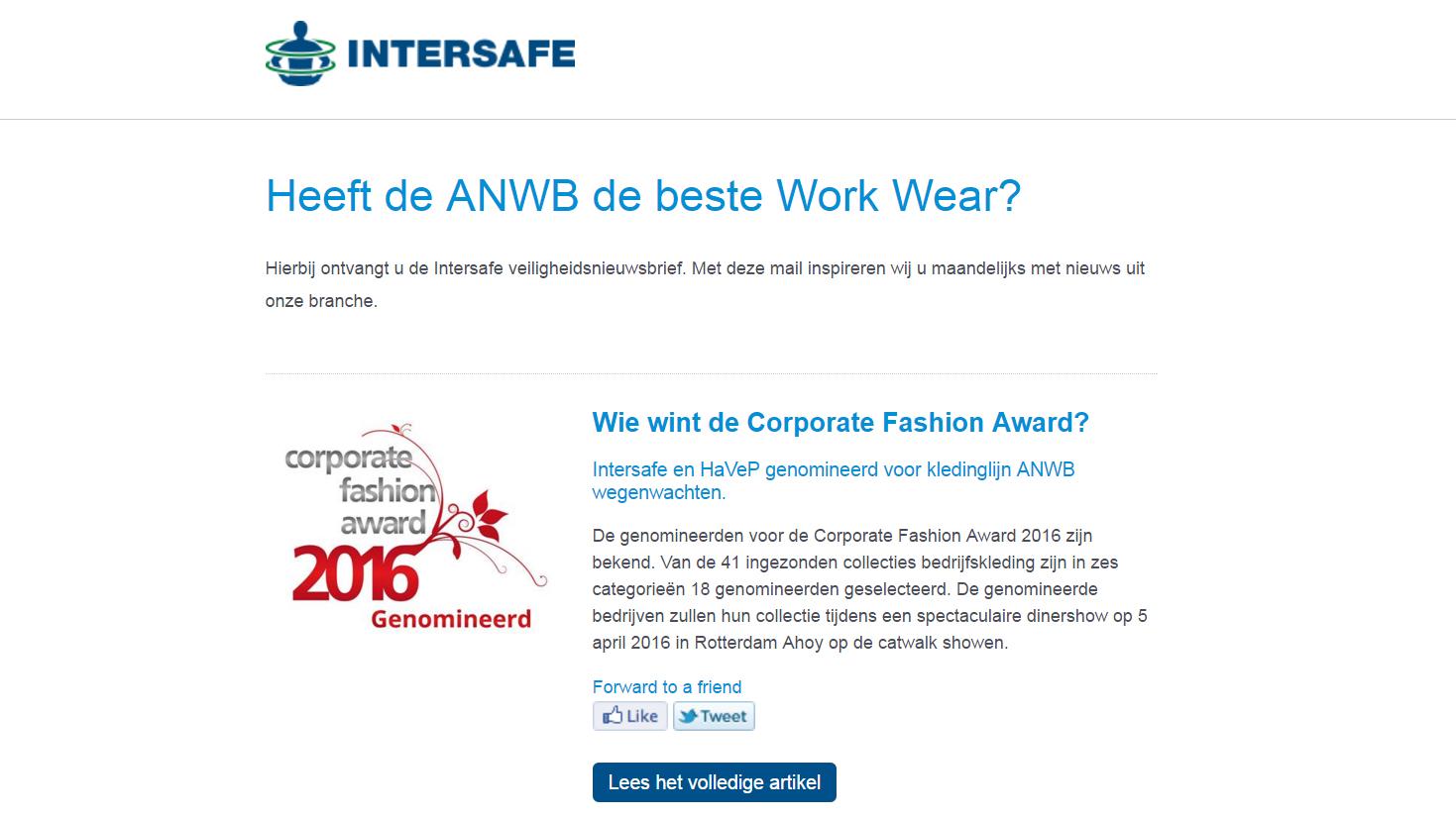 NIEUWSBRIEF: Heeft de ANWB de beste Work Wear?