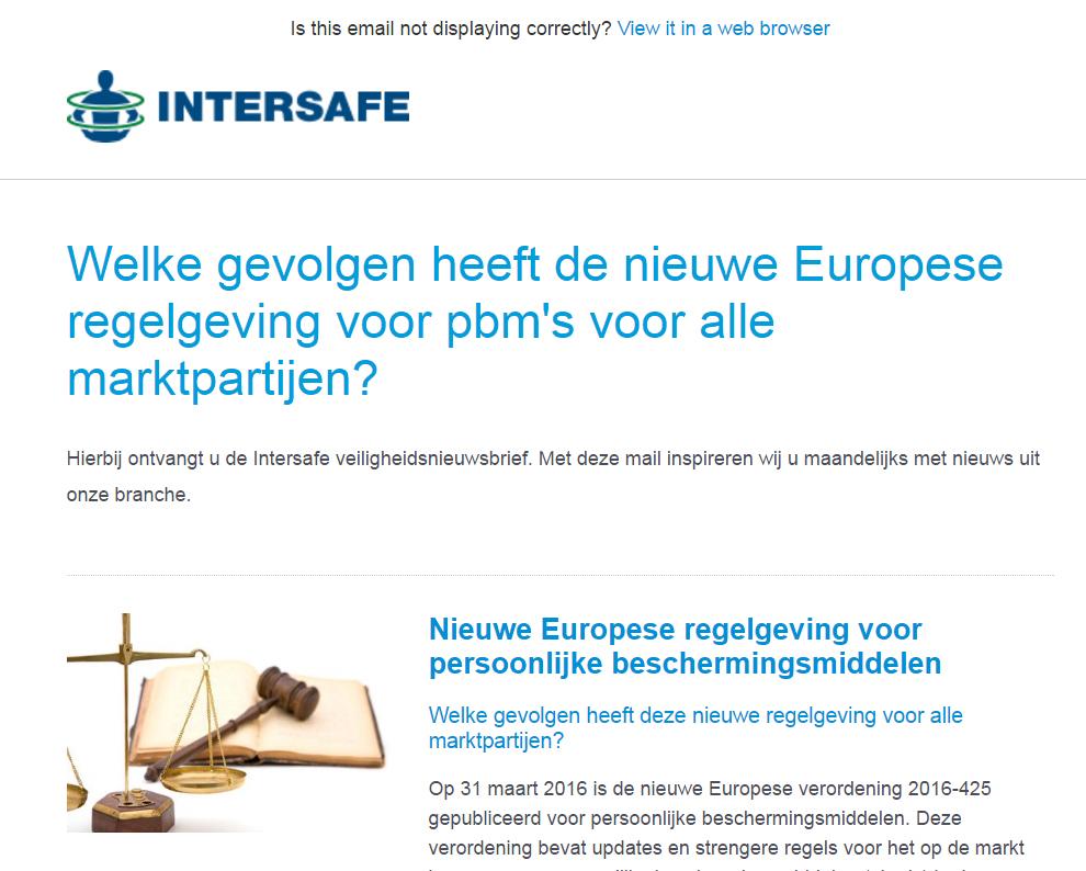 NIEUWSBRIEF: Welke gevolgen heeft de nieuwe Europese regelgeving voor pbm's voor alle marktpartijen?