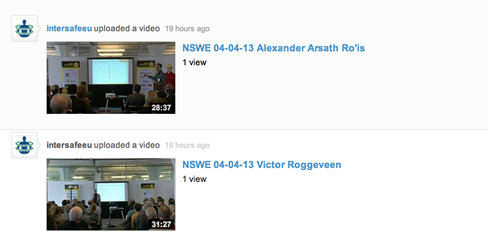 NSWE presentation videos available